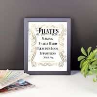 Pilates - Making Really Hard Exercises Look Effortless Framed poster