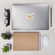 Pilates Floral Heart Bubble-free stickers
