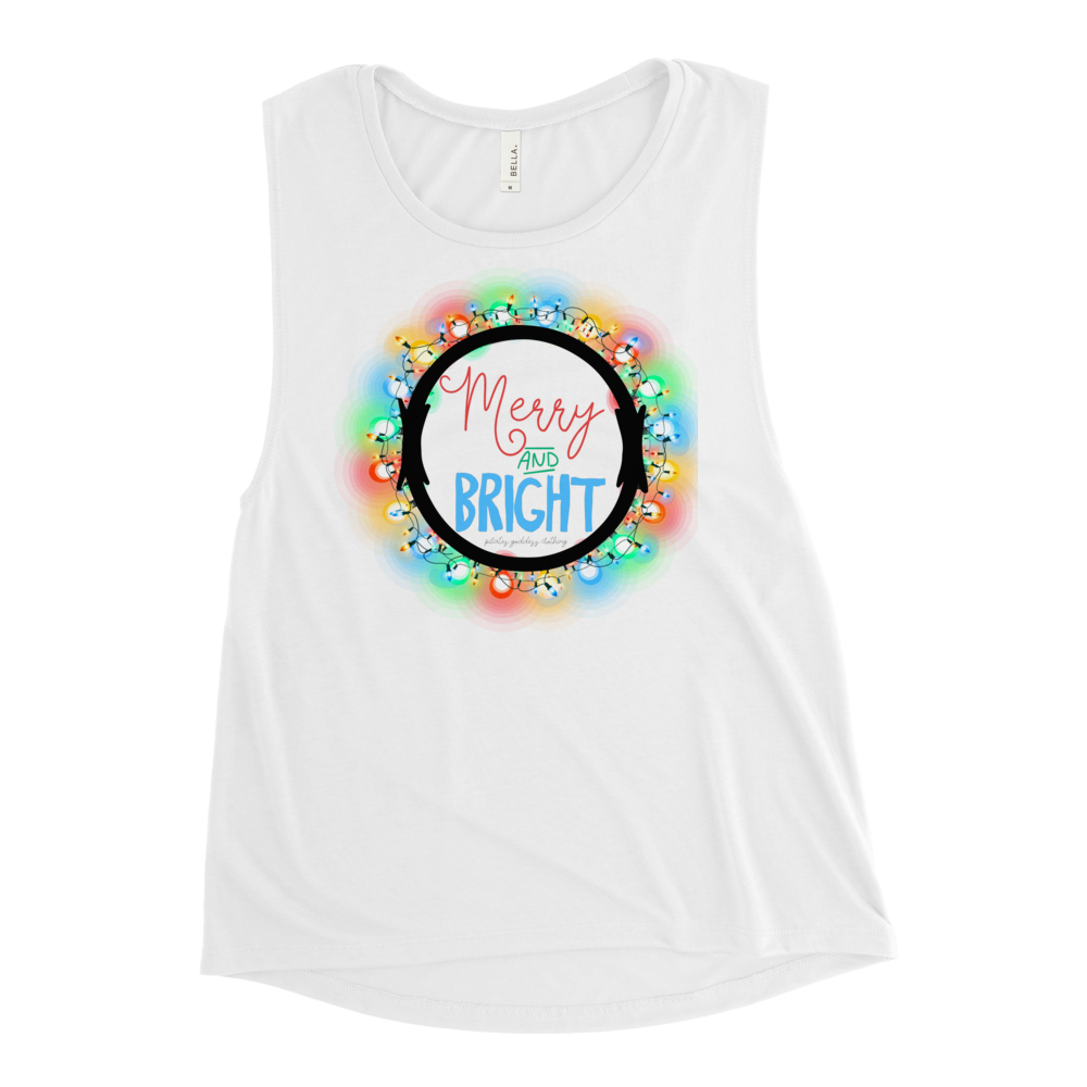 Merry and Bright Ladies' Muscle Tank