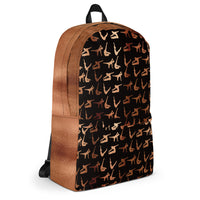 Copper Pilates Poses Backpack