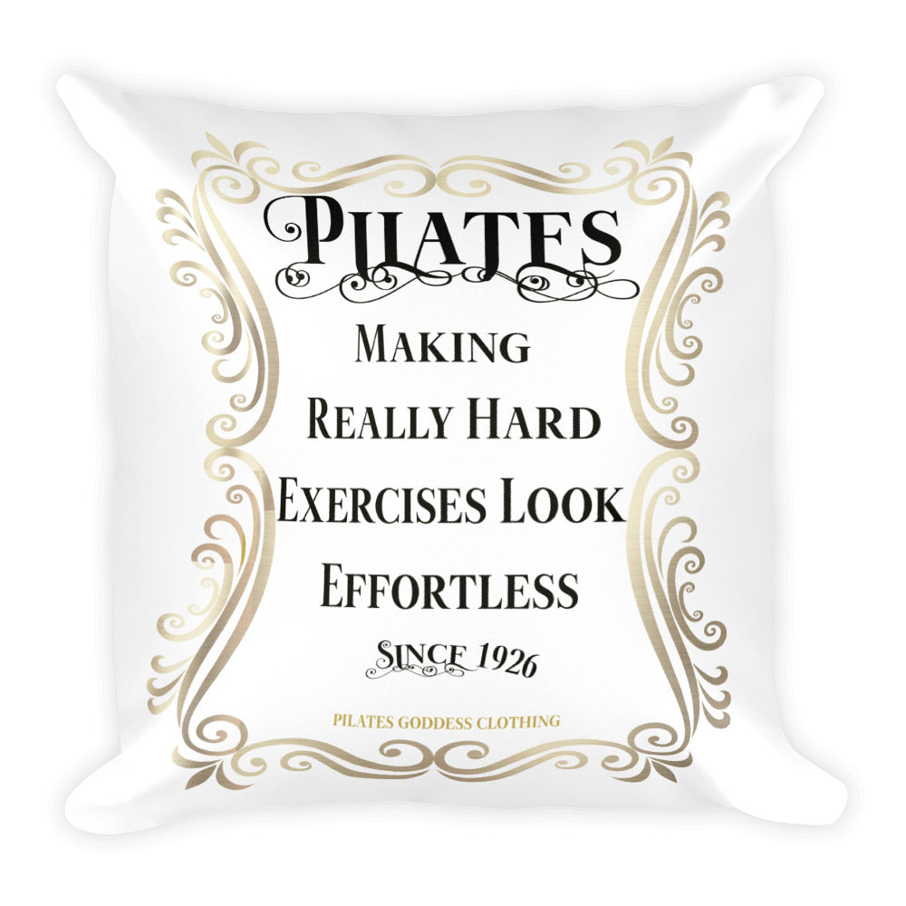 Pilates- Making Really Hard Exercises Look Effortless + Pilates Square Pillow- DOUBLE SIDED