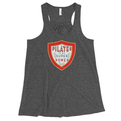 Pilates Is My Super Power! Women's Flowy Racerback Tank