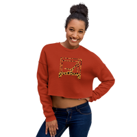 Animal Print Parakeet On Cadillac Crop Sweatshirt