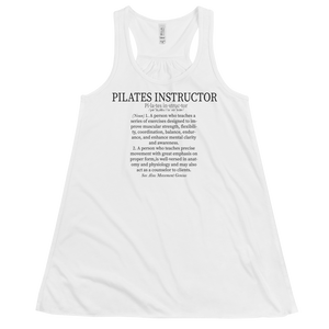 Pilates Instructor Definition Women's Flowy Racerback Tank