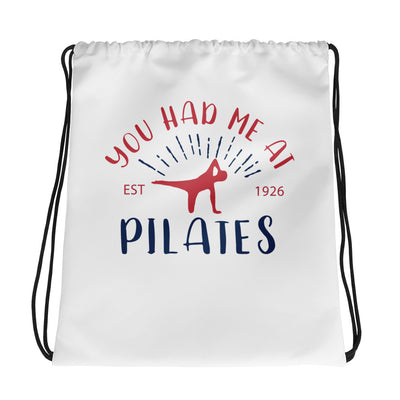 You Had Me at Pilates Drawstring bag