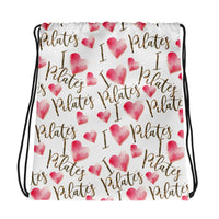 I Heart Pilates Drawstring bag