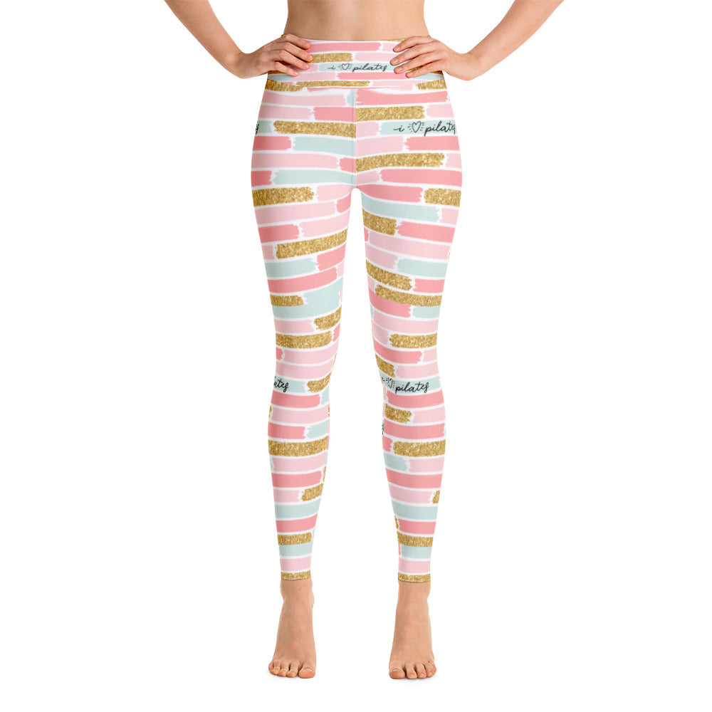 8f0e223ac5e6c9 I Love Pilates Brick High Waisted Leggings | PilatesGoddessClothing