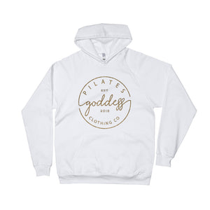 Pilates Goddess Clothing Co Logo Unisex Fleece Hoodie