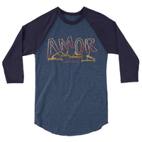 Amor Pilates 3/4 sleeve raglan shirt