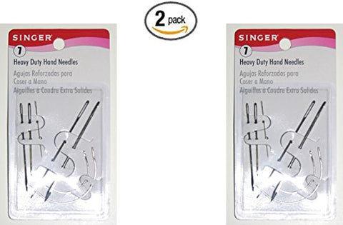 Singer Heavy Duty Assorted Hand Needles, 7-Count (2pack)