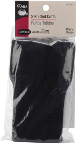Dritz Adult Knitted Cuffs: Black