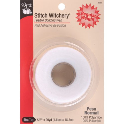 Dritz 222 5/8-Inch by 20-Yard Stitch Witchery, Regular