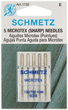 Microtex Sharp Machine Needles-Size 8/60 5/Pkg