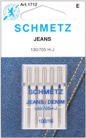 Jean & Denim Machine Needles-Size 16/100 5/Pkg