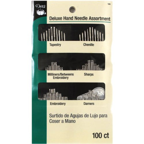 Dritz Assorted Deluxe Hand Needles, 100-Pack