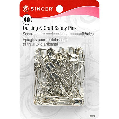 Singer Large Quilting and Craft Safety Pins, 40-Count
