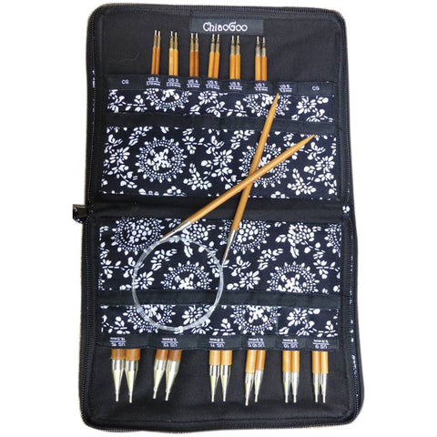 CHIAOGOO 2500-C Spin Interchangeable Knitting Needle Set, Complete