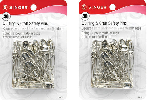 Singer Large Quilting and Craft Safety Pins, 40-Count (Parent)