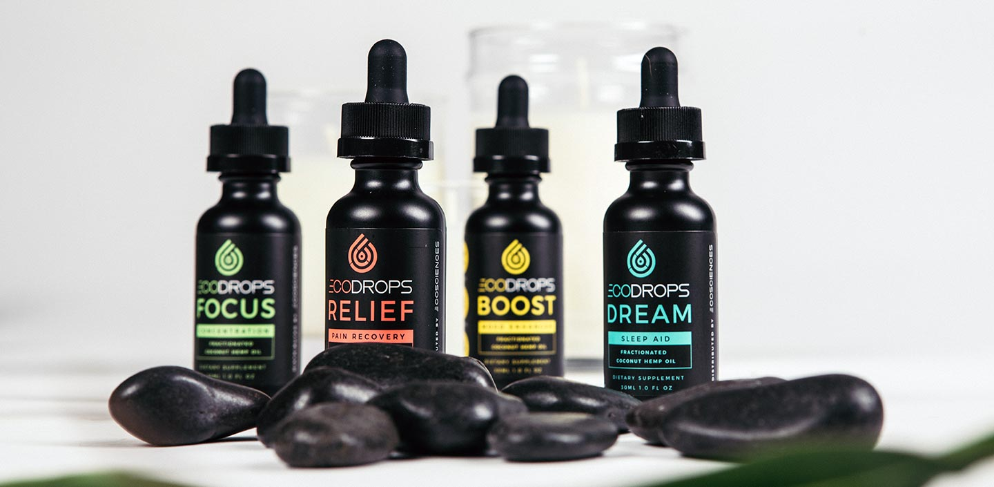 Eco Drops sublingual fractionated coconut oil with full spectrum hemp extract