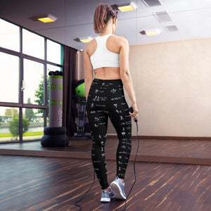 LRlive.fit Yoga poses stix-tionary  Leggings