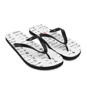 LRlive.fit Yoga poses stix-tionary Flip-Flops (White)