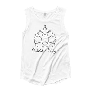 Yoga Nama-Slay Ladies' Cap Sleeve T-Shirt