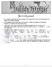 An Italian Intrigue Practice Incentive Theme