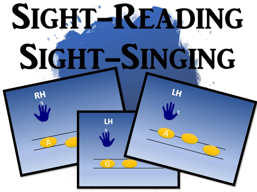 Skip and Step Sight Reading for Beginners (Coloured)