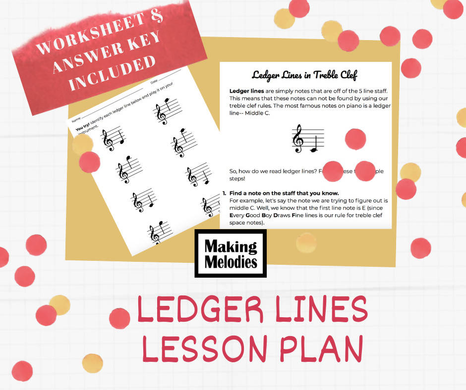 Teaching LEDGER LINES