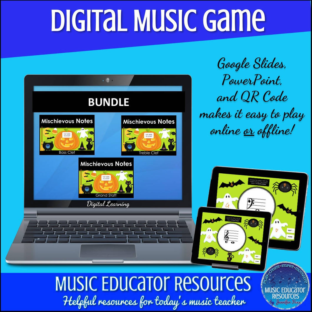 Mischievous Notes | Notes BUNDLE | Interactive Digital Music Game