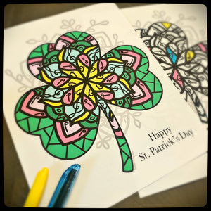 St. Patrick's Day Mandala Poster and coloring page Bundle