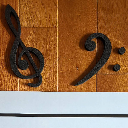 E-Z Treble & Bass Clef set