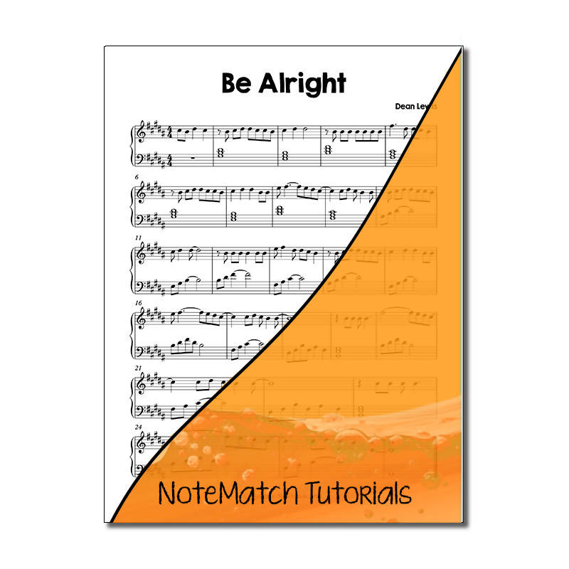 Be Alright by Dean Lewis (NoteMatch Tutorial)