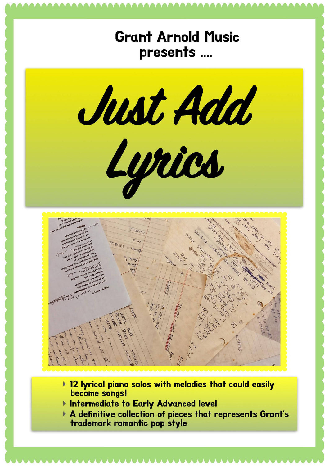 Just Add Lyrics - A collection of my best melodies !