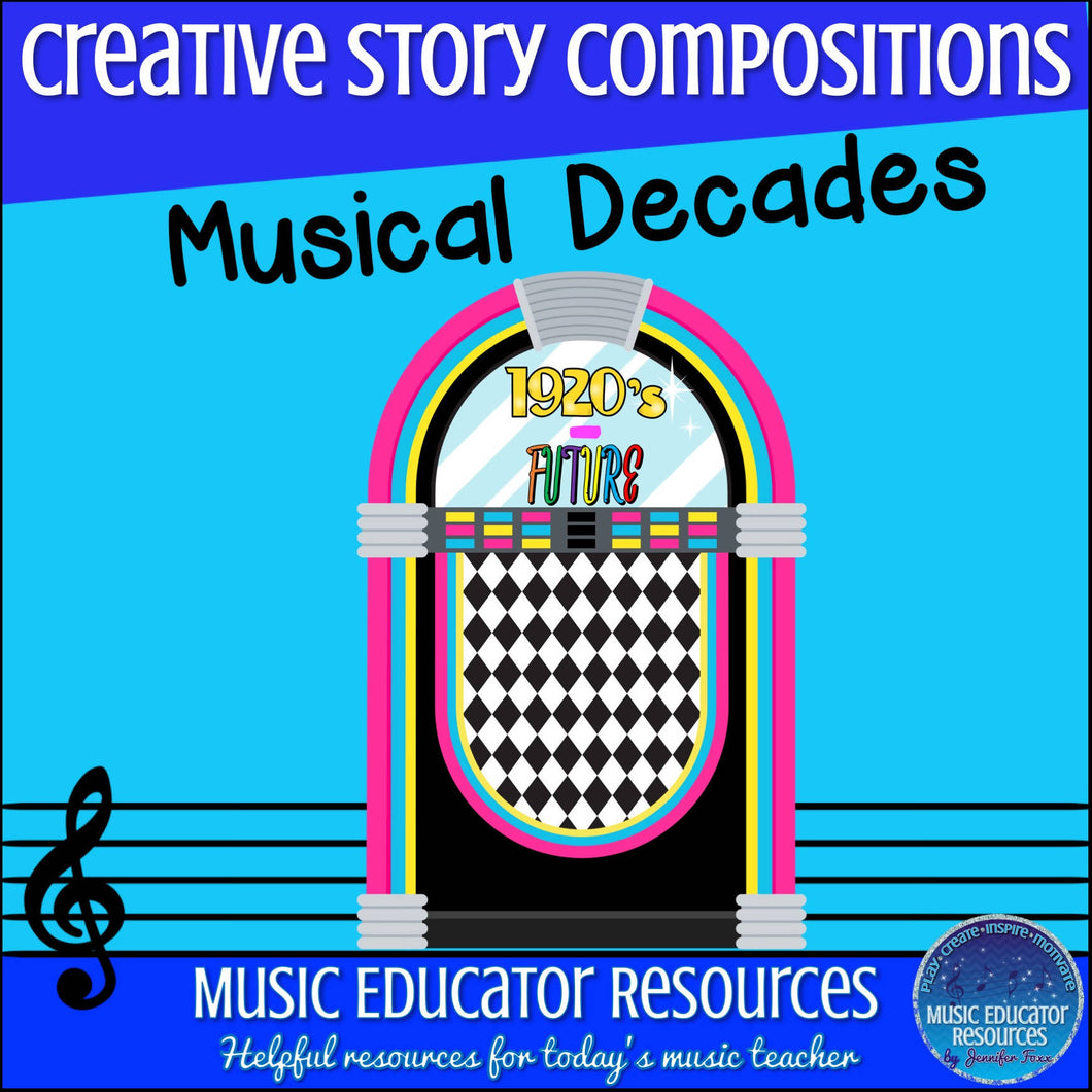 Creative Story Compositions: Musical Decades (Reproducible)