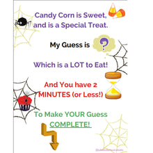 FUN for Your Studio Halloween Candy Corn Guessing Game