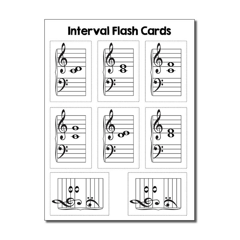 Interval Flash Cards (B&W)