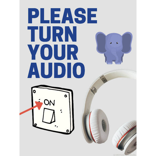 Sign: PLEASE Turn on Your AUDIO