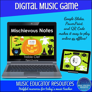 Mischievous Notes | Treble Clef Notes | Interactive Digital Music Game