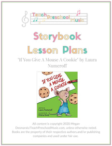 If You Give A Mouse A Cookie Storybook Lesson Plan