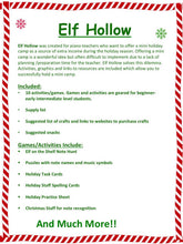 Elf Hollow Holiday Camp Manual