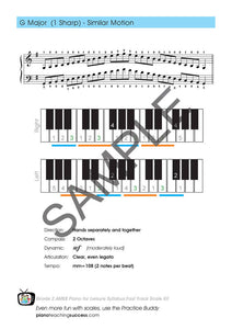FAST TRACK SCALE KIT - AMEB PIANO FOR LEISURE GRADE 2