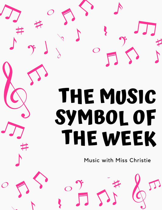 2021 Music Symbol of the Week Calendar
