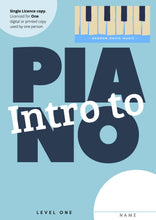 Intro to Piano Level 1 - Single Use. A4 paper size Digital Download