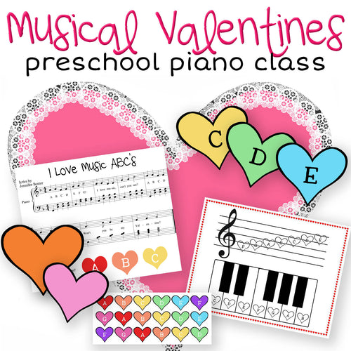 Musical Valentines: A Preschool Piano Class Lesson Plan