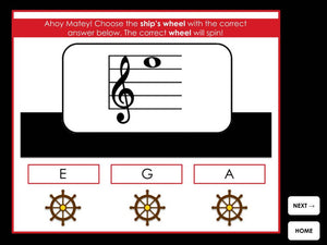 Ships Ahoy | Treble Clef Notes | Interactive Digital Music Game
