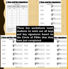 Music Theory Beginner Worksheets: Keys, Circle of Fifths