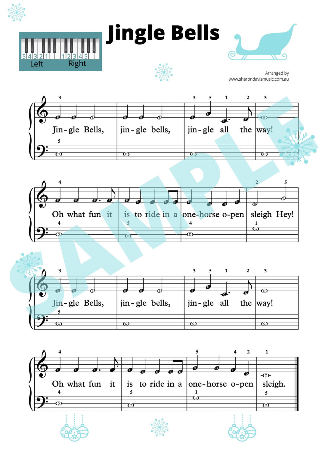 Jingle Bells - beginner level