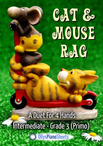 Cat & Mouse Rag - Ragtime - Piano Duet For 4 Hands