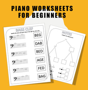 Fun Piano Worksheets for Beginners!
